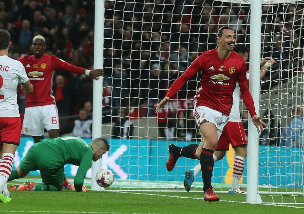 365d2cff6e Zlatan Ibrahimovic took the field in Adidas boots for Sunday s EFL Cup final