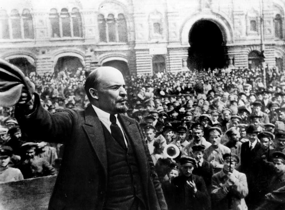 Lenin in 1917: while the revolution brought benefits, including education, to those at the bottom of the social pile, it also destroyed not just the aristocracy, but the first flowering of a middle class