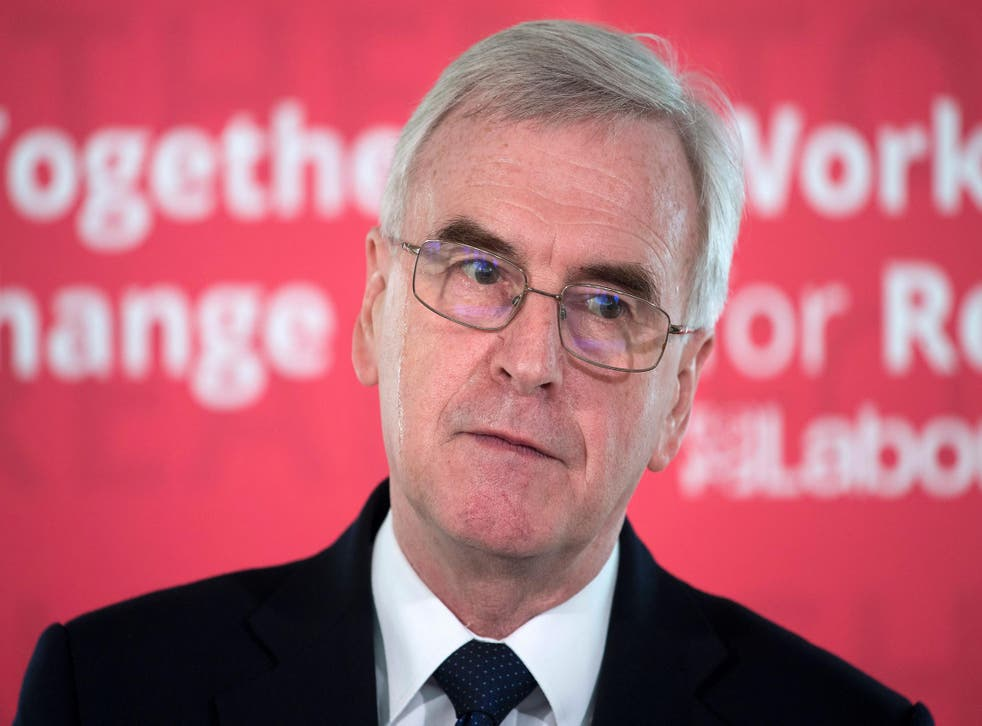John McDonnell's speech came a week before Mr Hammond sets out his fiscal plans at the despatch box next Wednesday