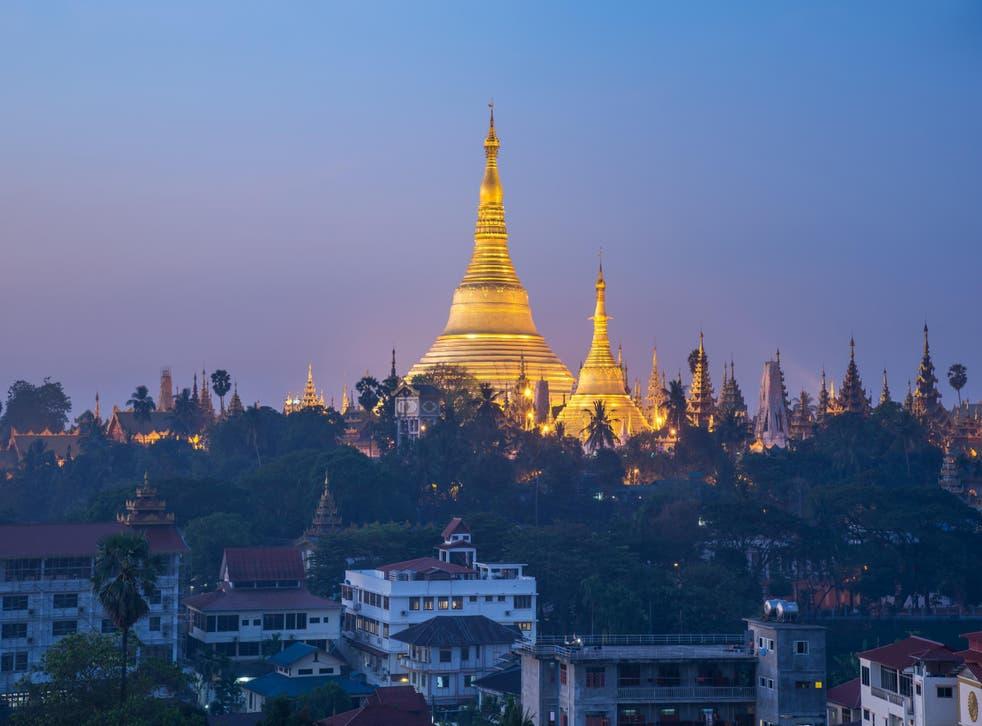 Yangon's most famous sight is the golden Shwedagon Pagoda