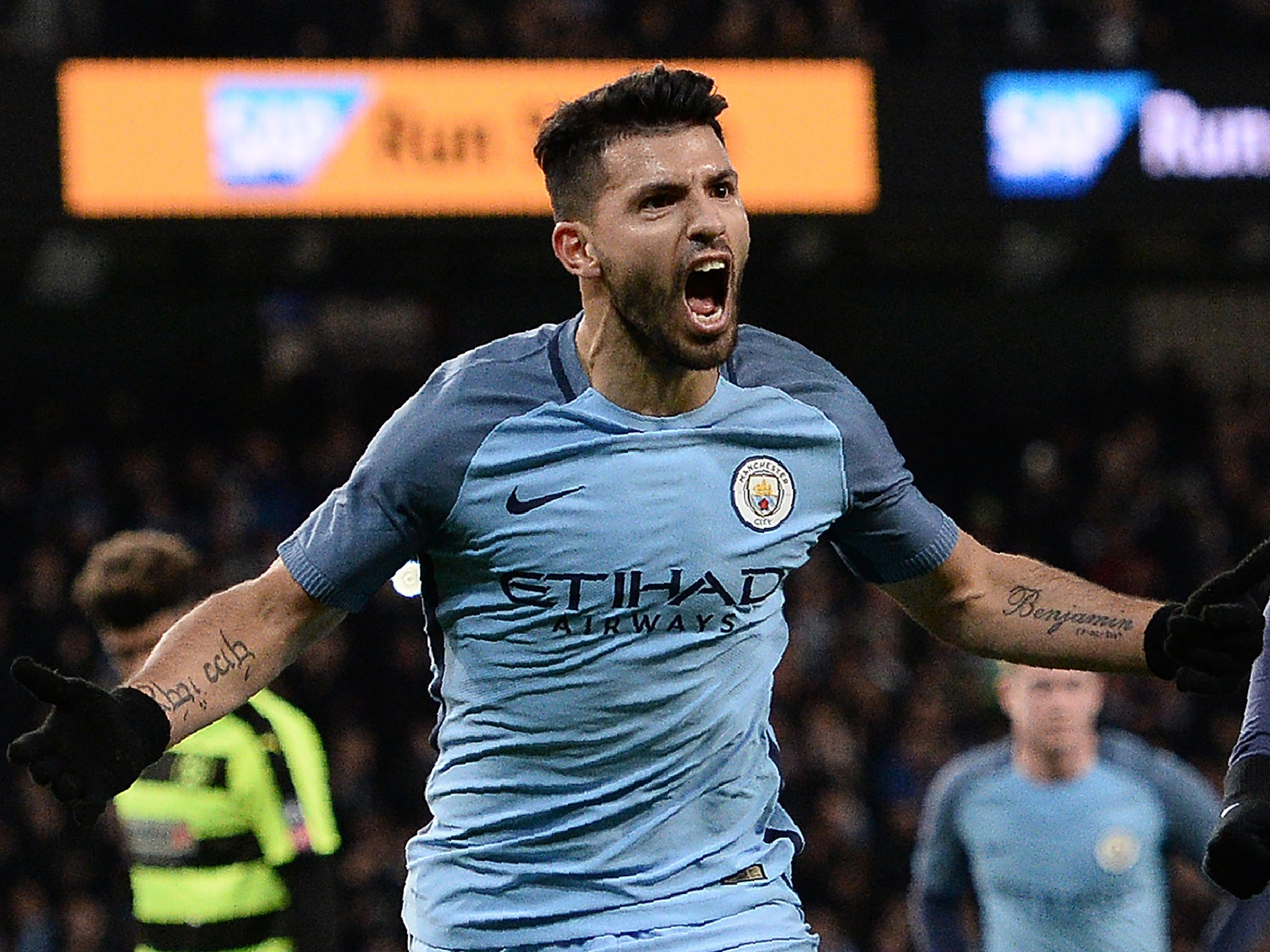 Sergio Aguero has not discussed his future with Manchester City