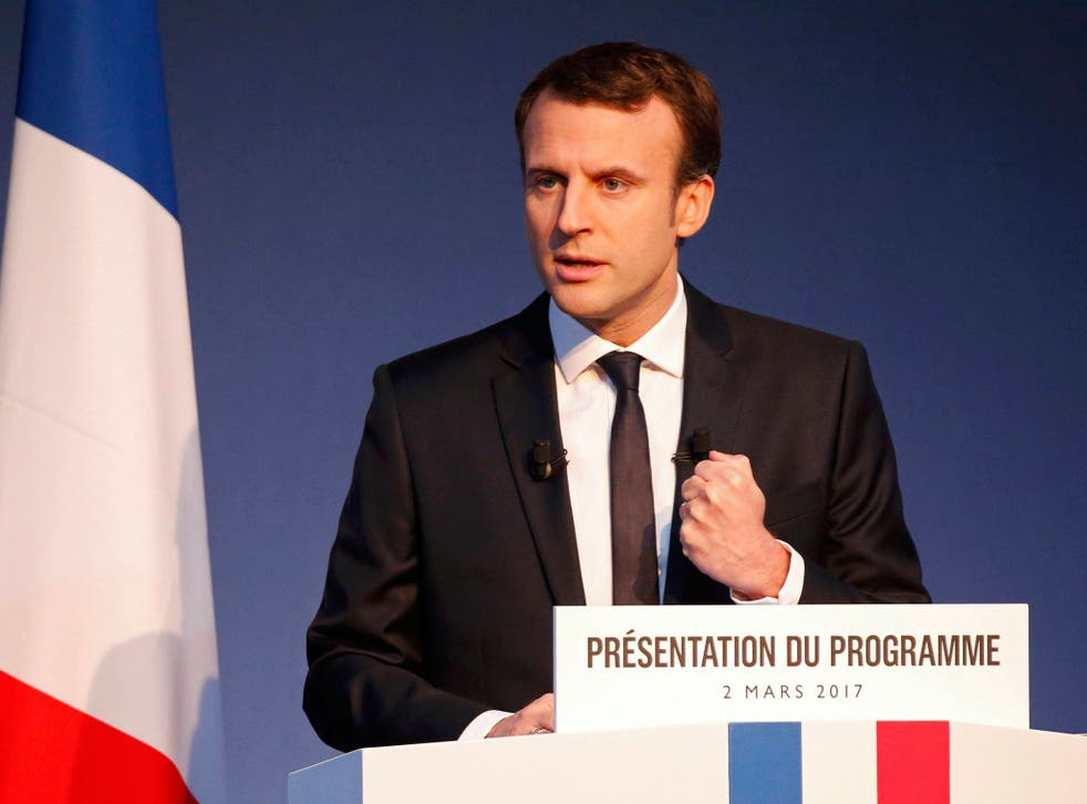 The defection of Manuel Valls is being seen as a big win for Emmanuel Macron (pictured) in his campaign for the French presidency