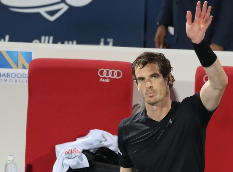 A tired looking Murray salutes the crowd