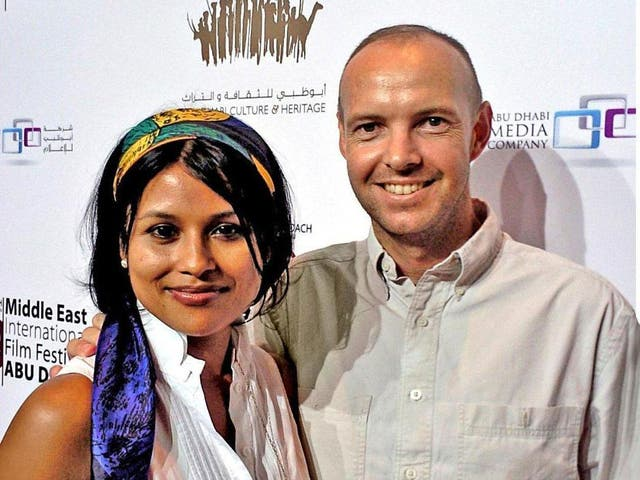 Bitter split: Afsana Lachaux and her then husband Bruno