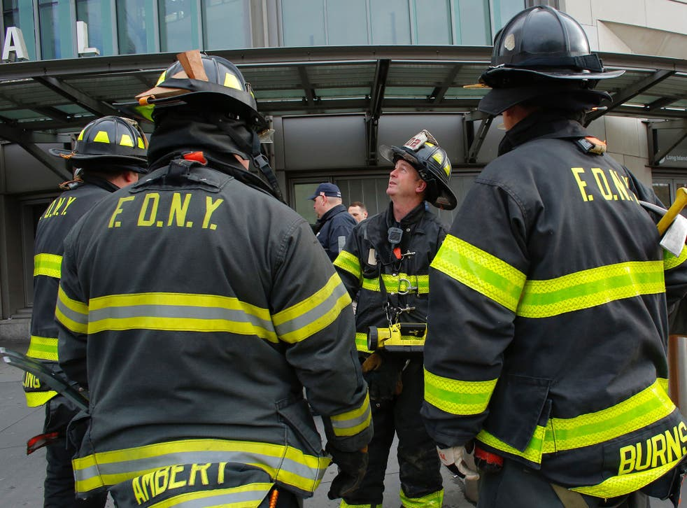 The New York Fire Department is not treating the blaze as suspicious