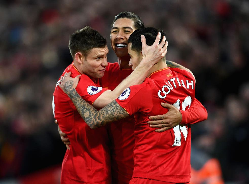 Roberto Firmino was instrumental in Liverpool's emphatic 3-1 defeat of Arsenal