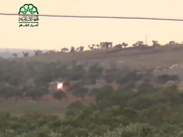 Ahrar al-Sham released video footage which appeared to show the plane being shot down