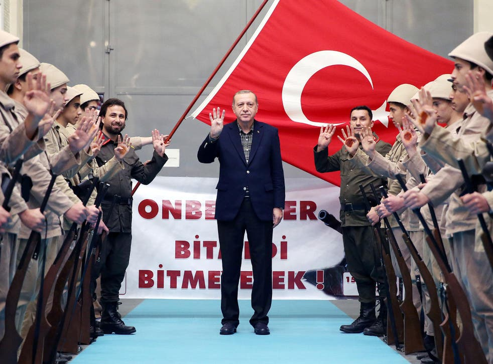 Mr Erdogan hopes to woo 1.4 million Turks in Germany who can vote in April's referendum in Turkey