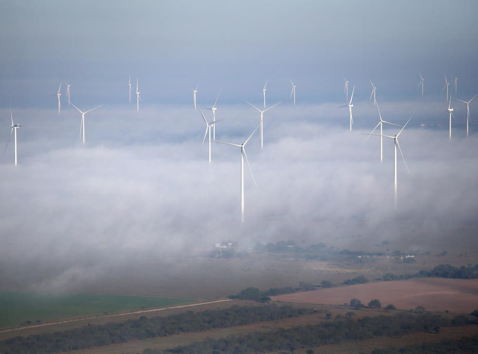 A windfarm in Texas