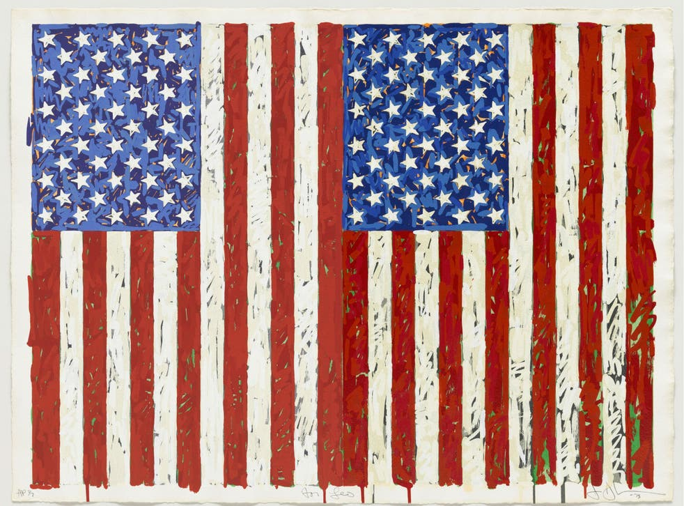 Jasper Johns's 'Flags I', created in 1973, is widely regarded as a masterpiece in printmaking