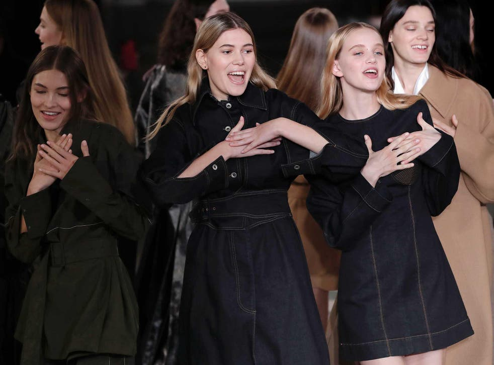 Stella McCartney closed her autumn/winter show at Paris Fashion Week with a heart-warming tribute to George Michael