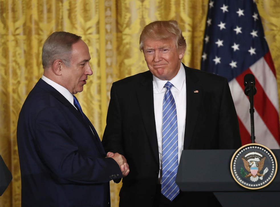 Mr Trump did not explicitly embrace a two-state solution to the Israeli-Palestinian conflict when he met with Israeli Prime Minister Benjamin Netanyahu last month