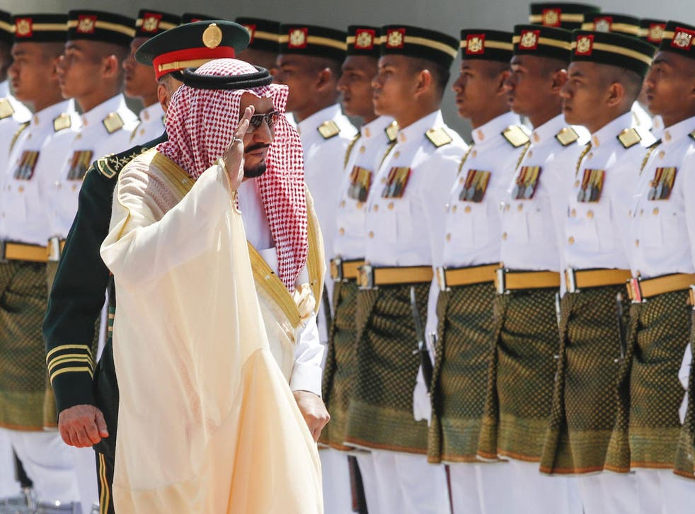 Saudi Arabia's King Salman bin Abdulaziz was on a four-day state visit to Malaysia, accompanied by a delegation of more than 600 people