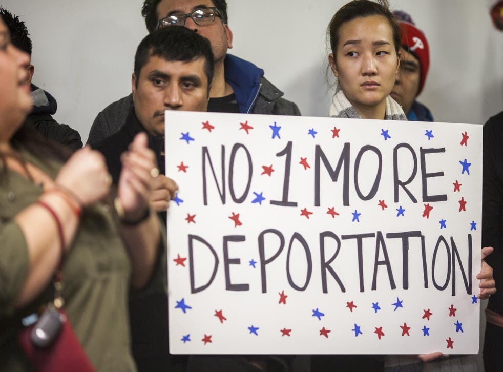 Latino workers protested against Immigrations and Customs Enforcement deportations