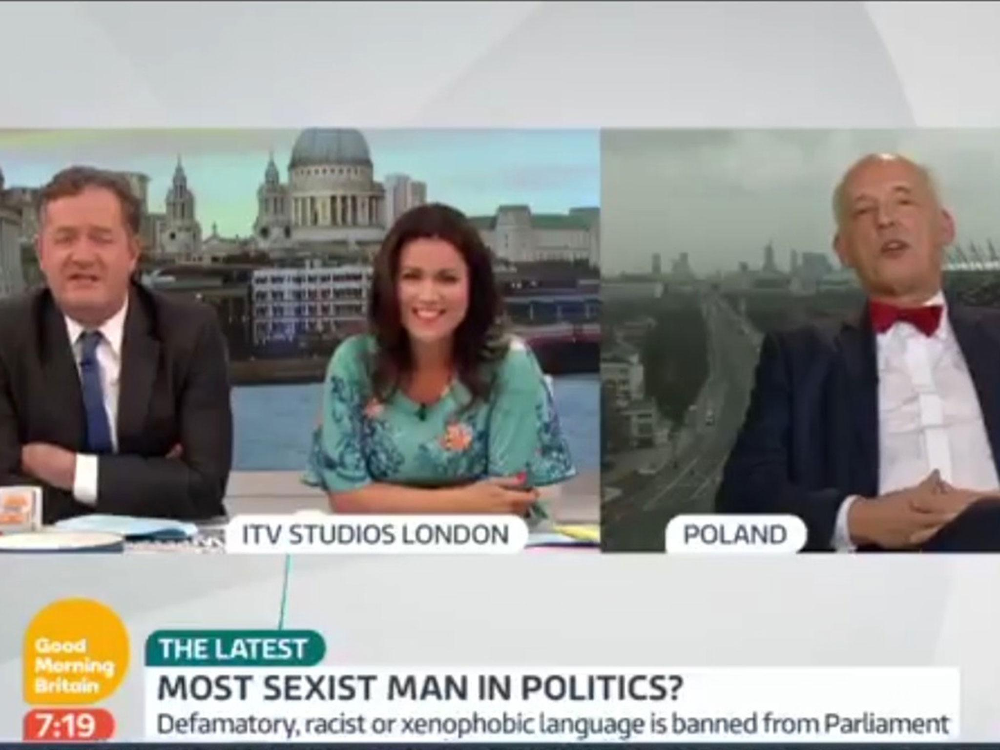 Sexist Polish MEP interviewed by Piers Morgan on Good Morning ...
