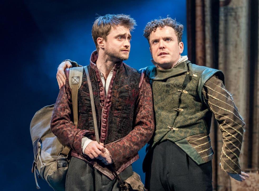Daniel Radcliffe (Rosencrantz) and Joshua McGuire (Guildenstern) in 'Rosencrantz and Guildenstern Are Dead' at The Old Vic