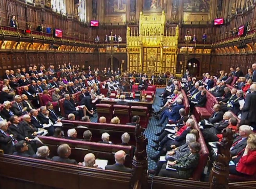 The House of Lords will debate a 'regret motion' later this month
