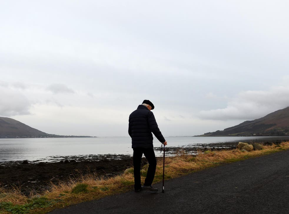 Carlingford Lough sits right between Northern Ireland (left) and the Republic of Ireland