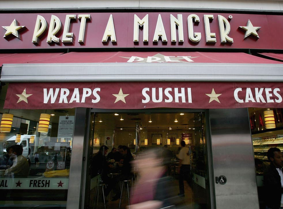 Pret a Manger has about 300 UK restaurant and an additional 100 globally in countries such as France and the US