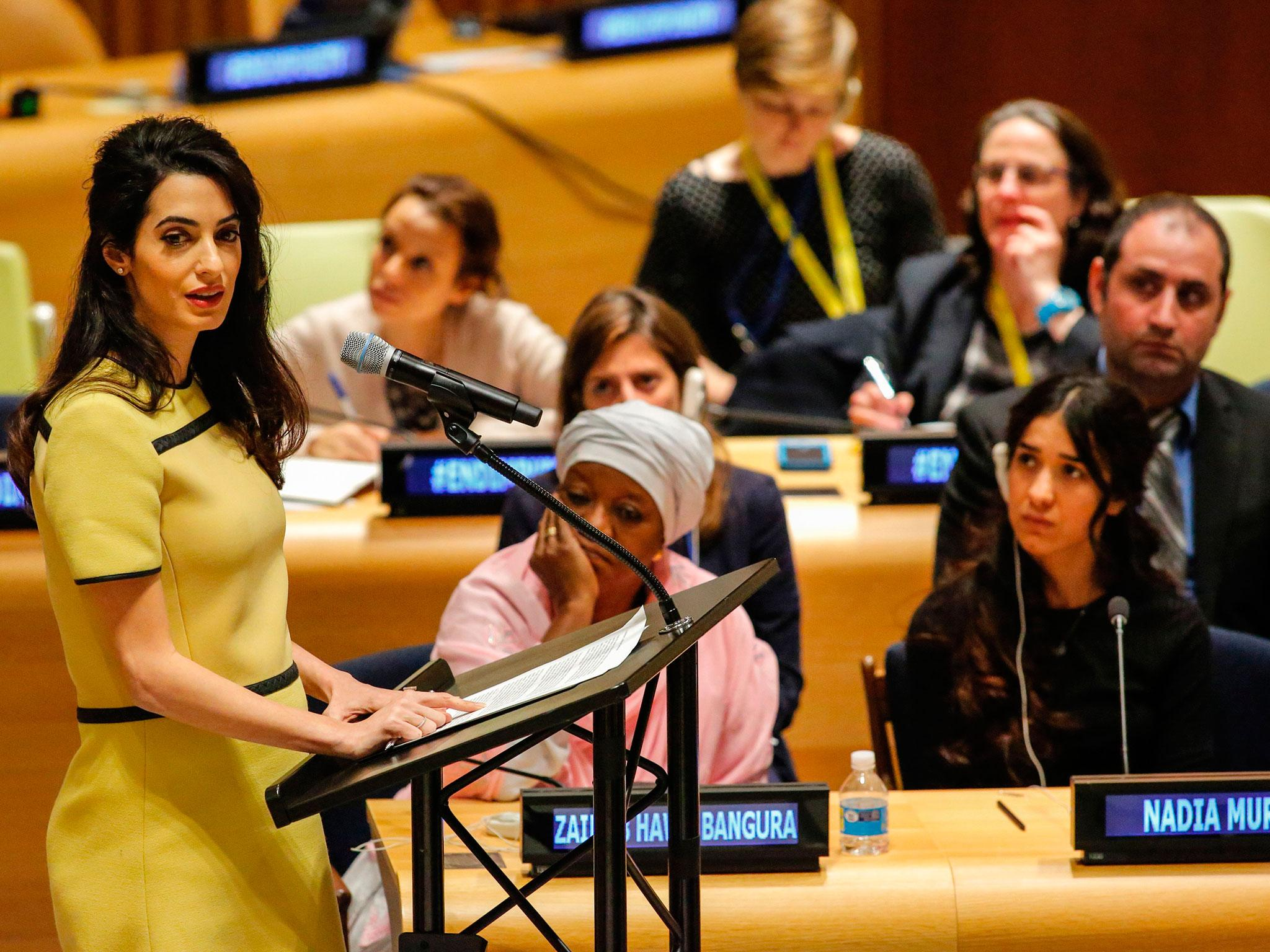 Amal Clooney: Full transcript of human rights lawyer's UN speech ...