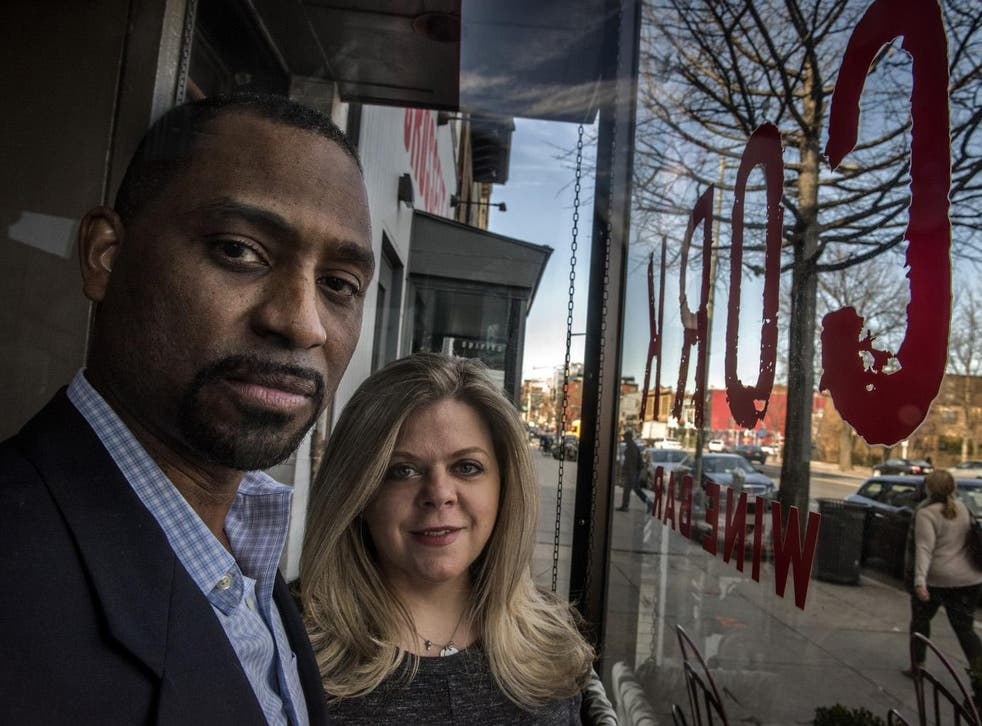 Khalid Pitts and Diane Gross, co-owners of Cork Wine Bar, are suing President Trump over his financial interest in the restaurant at Trump International Hotel in Washington DC