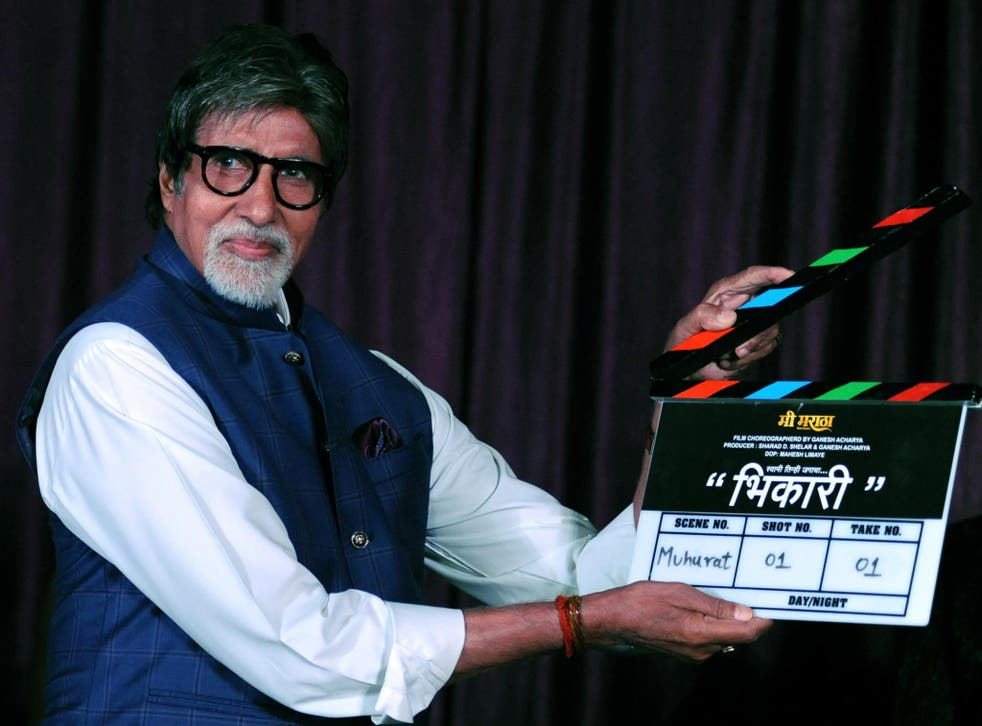 Indian Bollywood actor Amitabh Bachchan