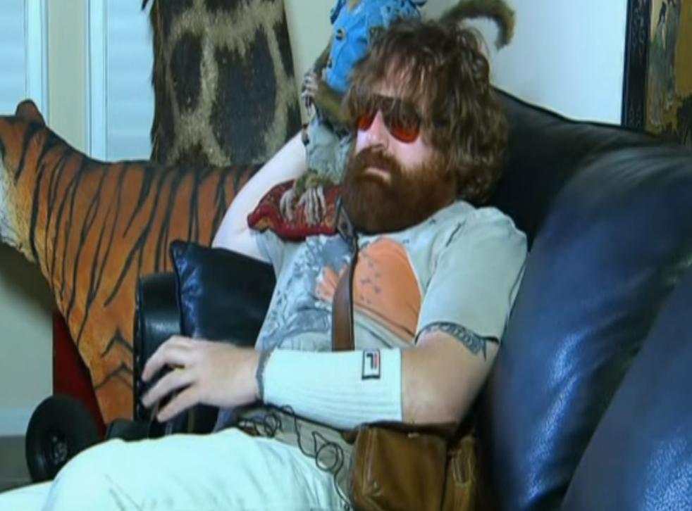 Thaddeus Kalinoski impersonating Alan from The Hangover