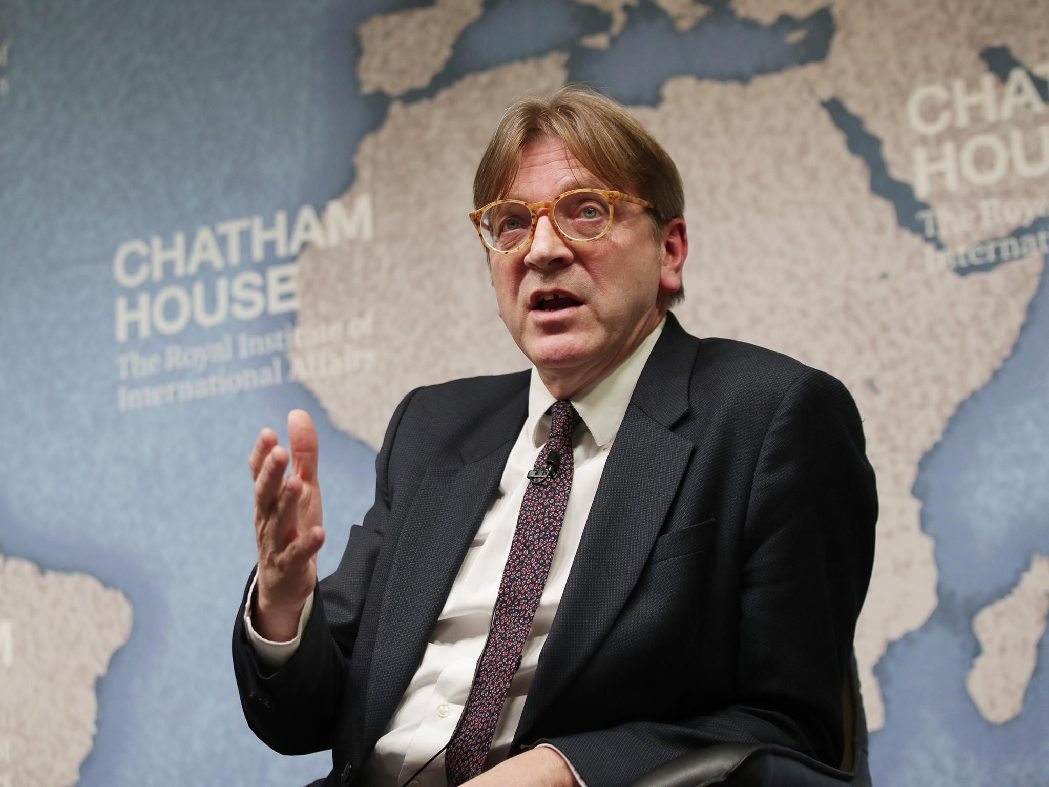 Brexit: Theresa May's plan for EU migrant registry shot down by Guy Verhofstadt