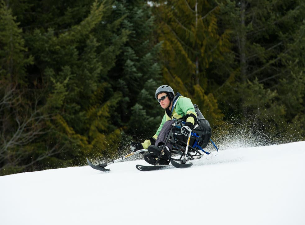 A wheelchair user... skiing? It's totally possible at Whistler Adaptive