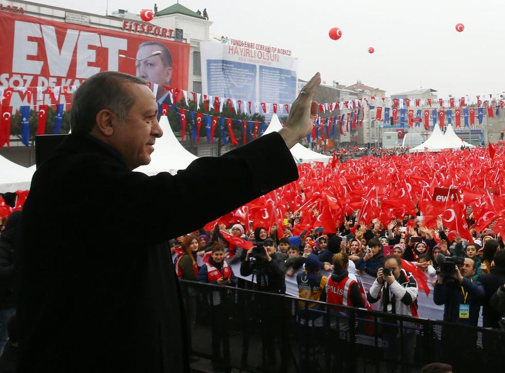 A new constitution that would increase Erdogan's powers is to be put to a referendum scheduled for 16 April