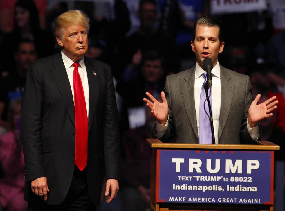 Donald Trump and Donald Jr on the campaign trail