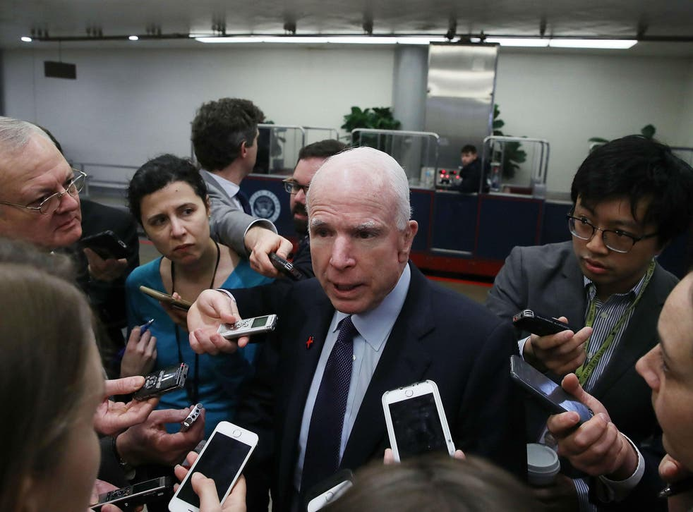 Mr McCain has an often tense relationship with Mr Trump