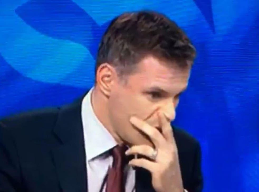 Jamie Carragher reacted furiously to being interrupted y Jamie Redknapp