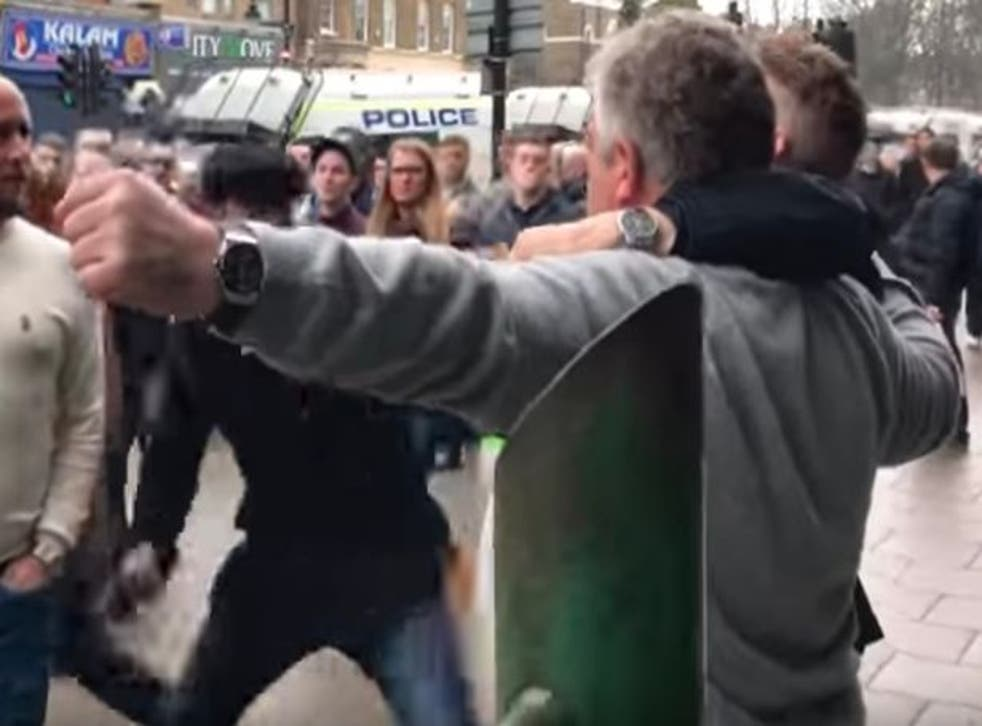 One Spurs fan was apparently assaulted after the match