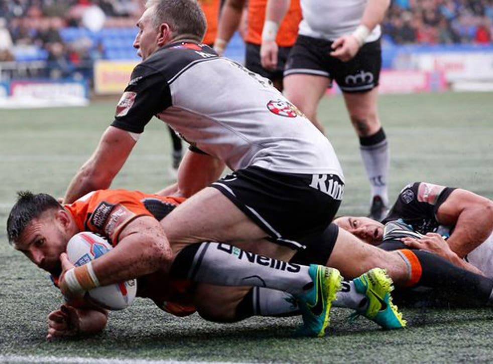 Matthew Cook's second-half try opened the floodgates