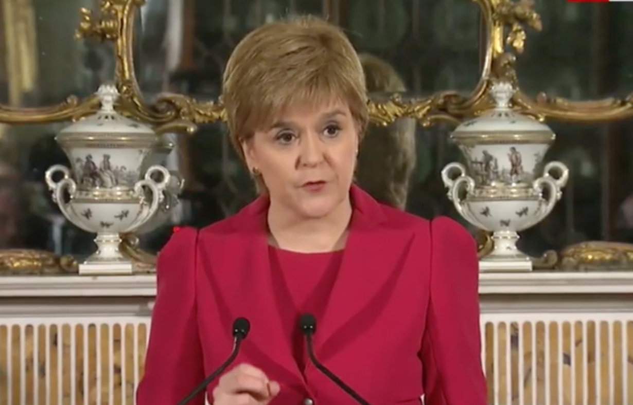 Nicola Sturgeon announces second Scottish referendum