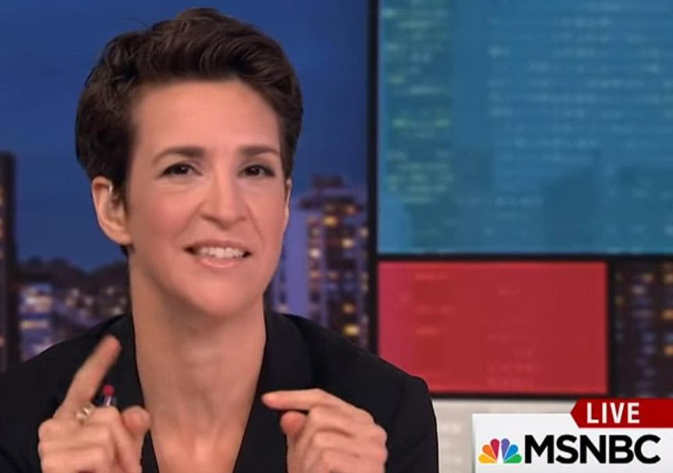 rachel maddow becomes most watched cable news show among anti trump