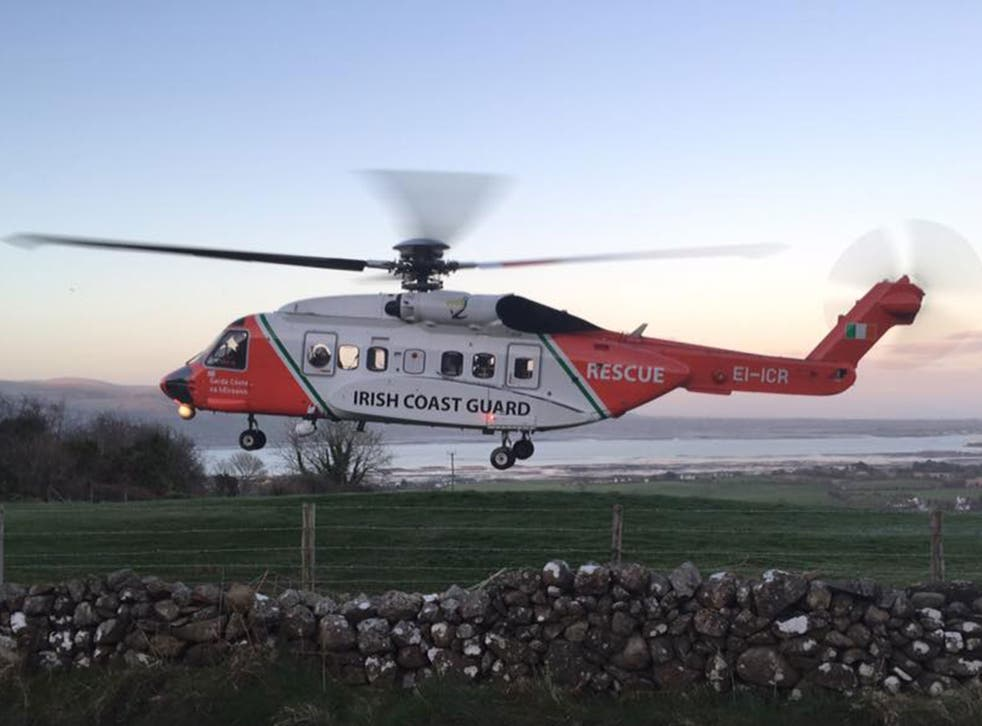 An Irish coastguard helicopter went missing off the coast of County Mayo