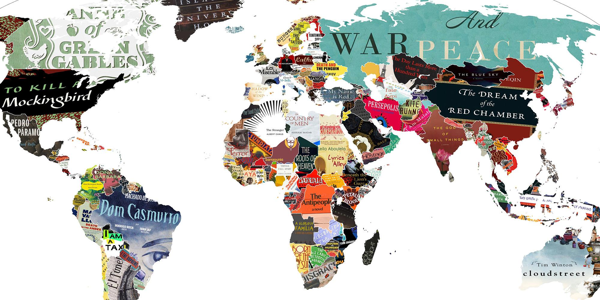 Literature Map Of The World.This Literature Map Of The World Is Simply Brilliant Indy100