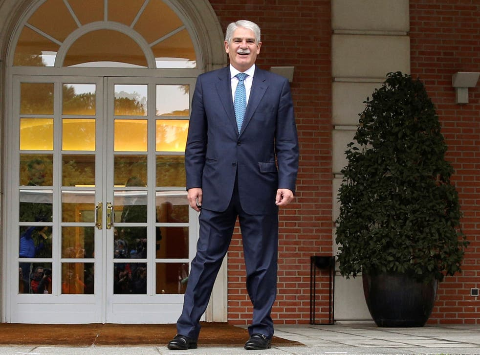 Spain's Foreign Minister Alfonso Dastis