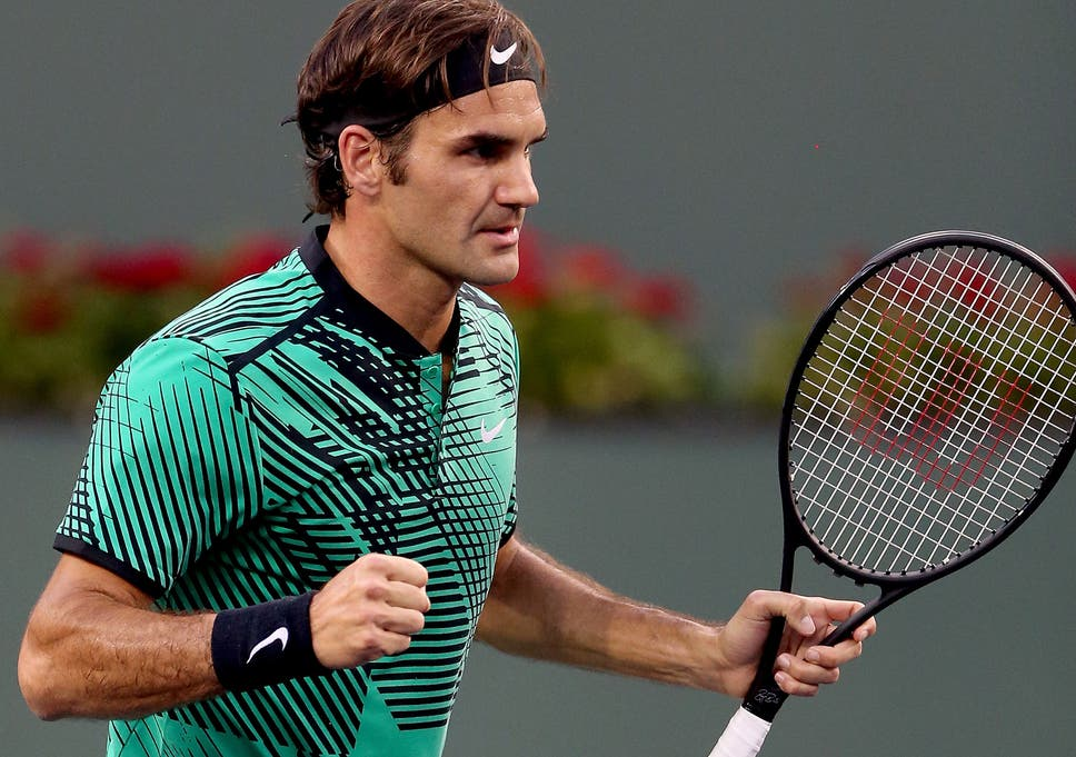 daf7c247ae4ed Roger Federer beat Steve Johnson in straight sets to set-up a quarter-final