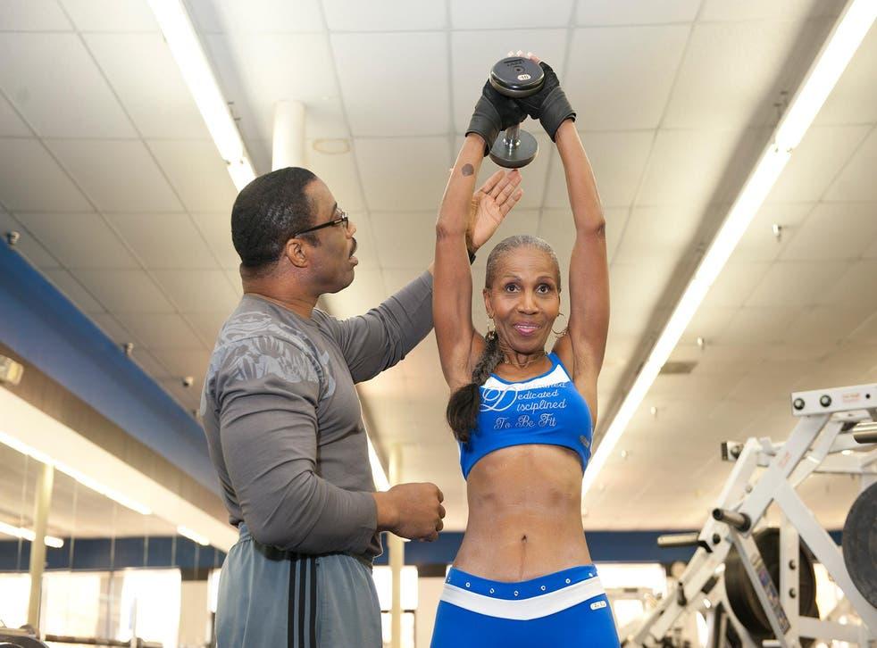 Ernestine and her trainer Yohnnie Shambourger