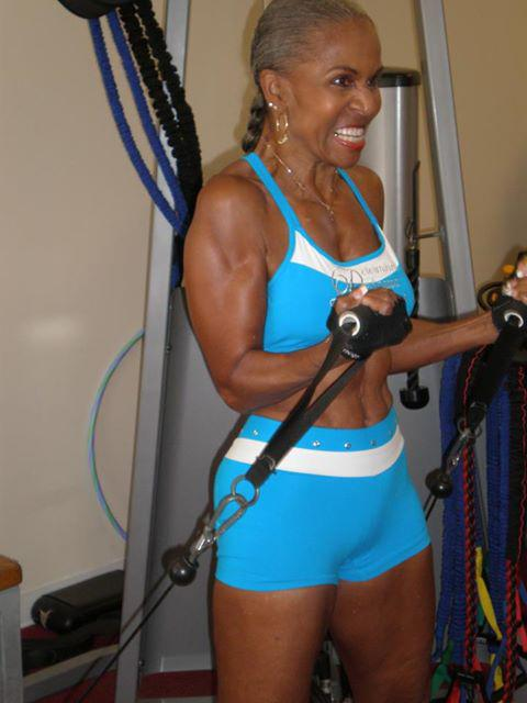 Mature granny nude body builders