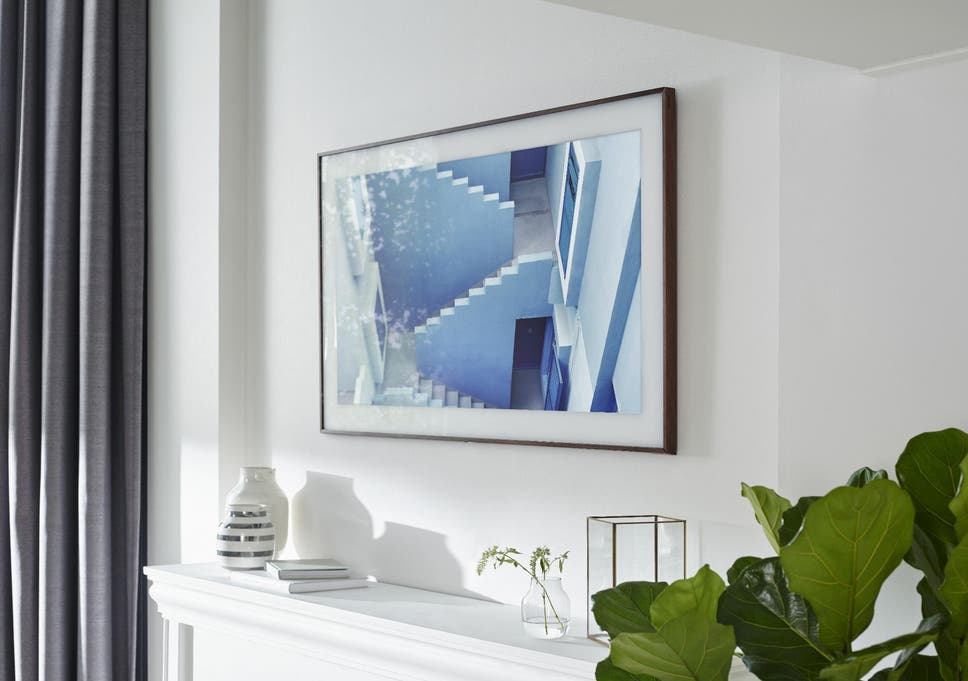 the frame samsung s new 4k tv transforms into wall art the