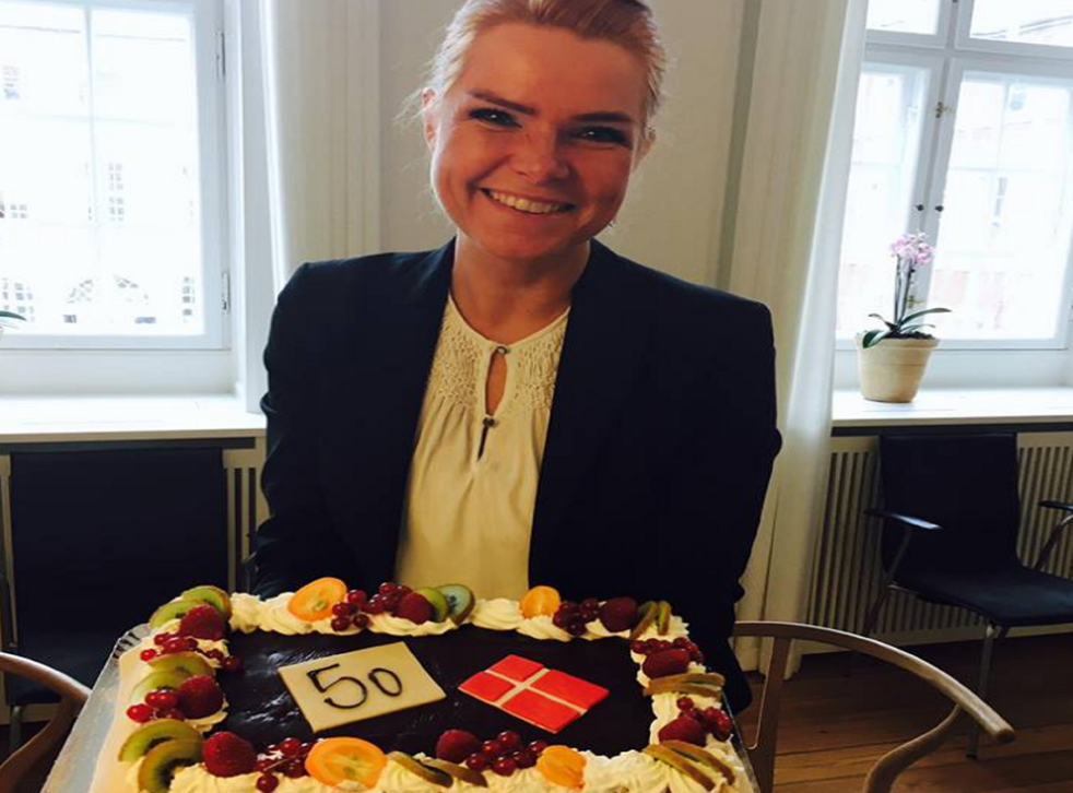 Inger Støjberg posted the photo to celebrate the 50th amendment to tighten immigration controls being ratified