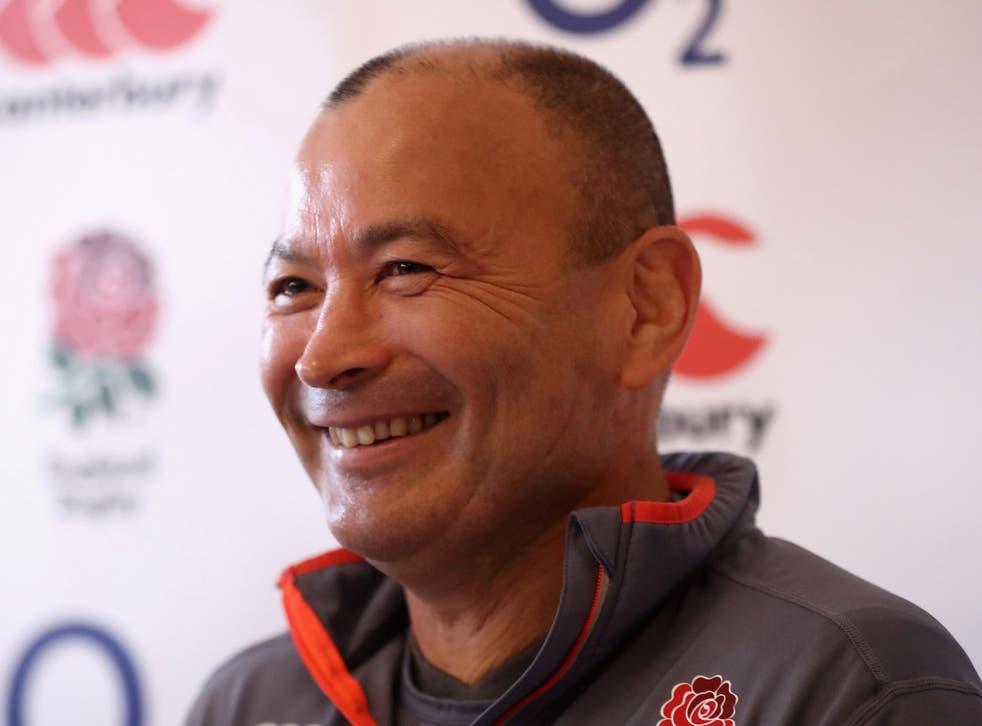 Jones was in a good mood ahead of Saturday's game in Dublin