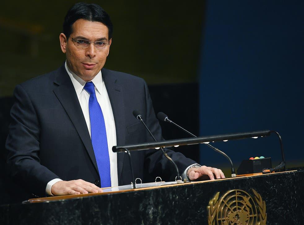 Israel's permanent representative to the United Nations, Danny Danon