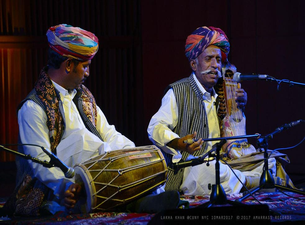 Lakha Khan (r) and his son, Dane, are on a US tour