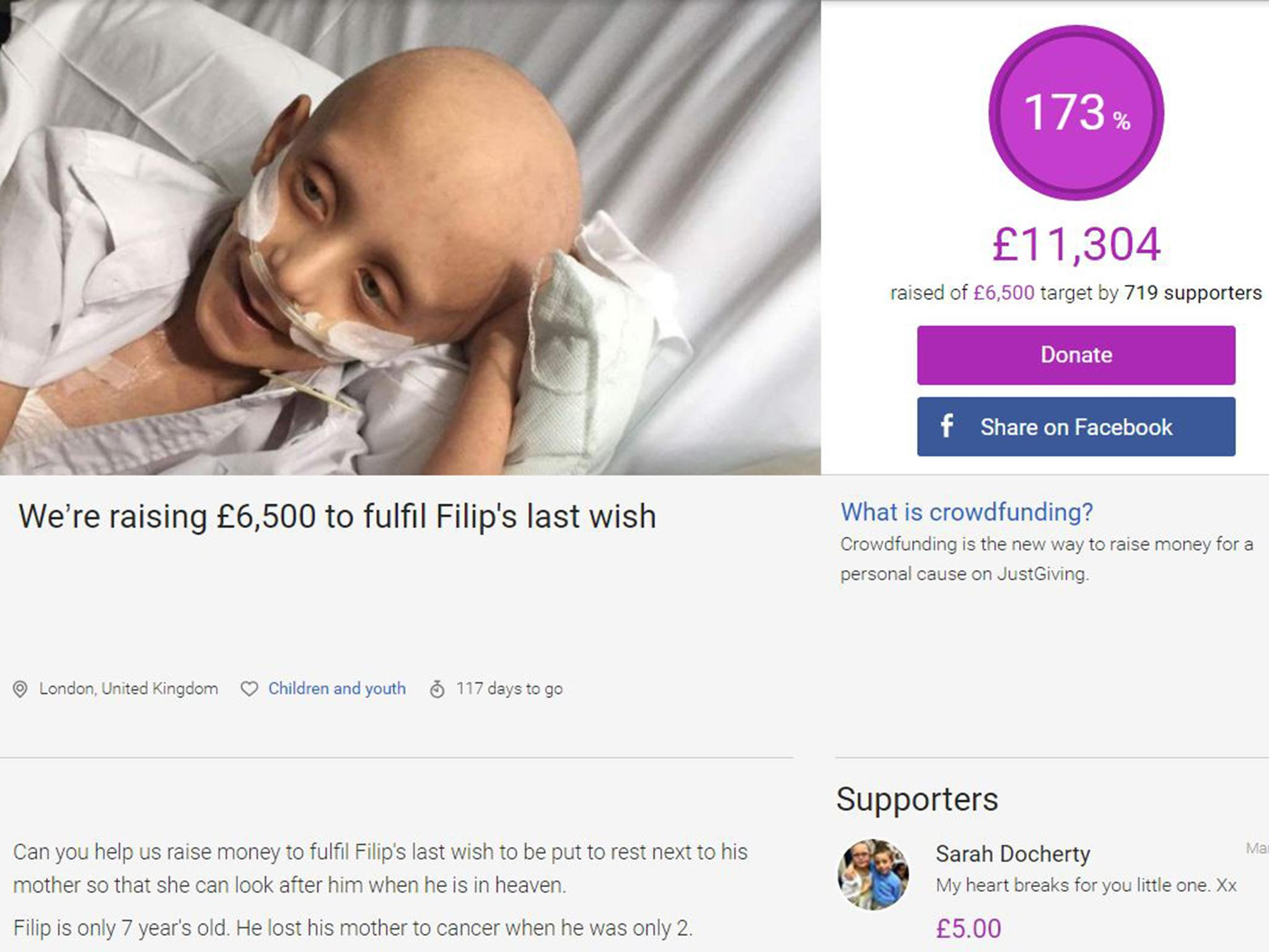 Crowdfunding campaign set up for dying boy so he can be buried next ...