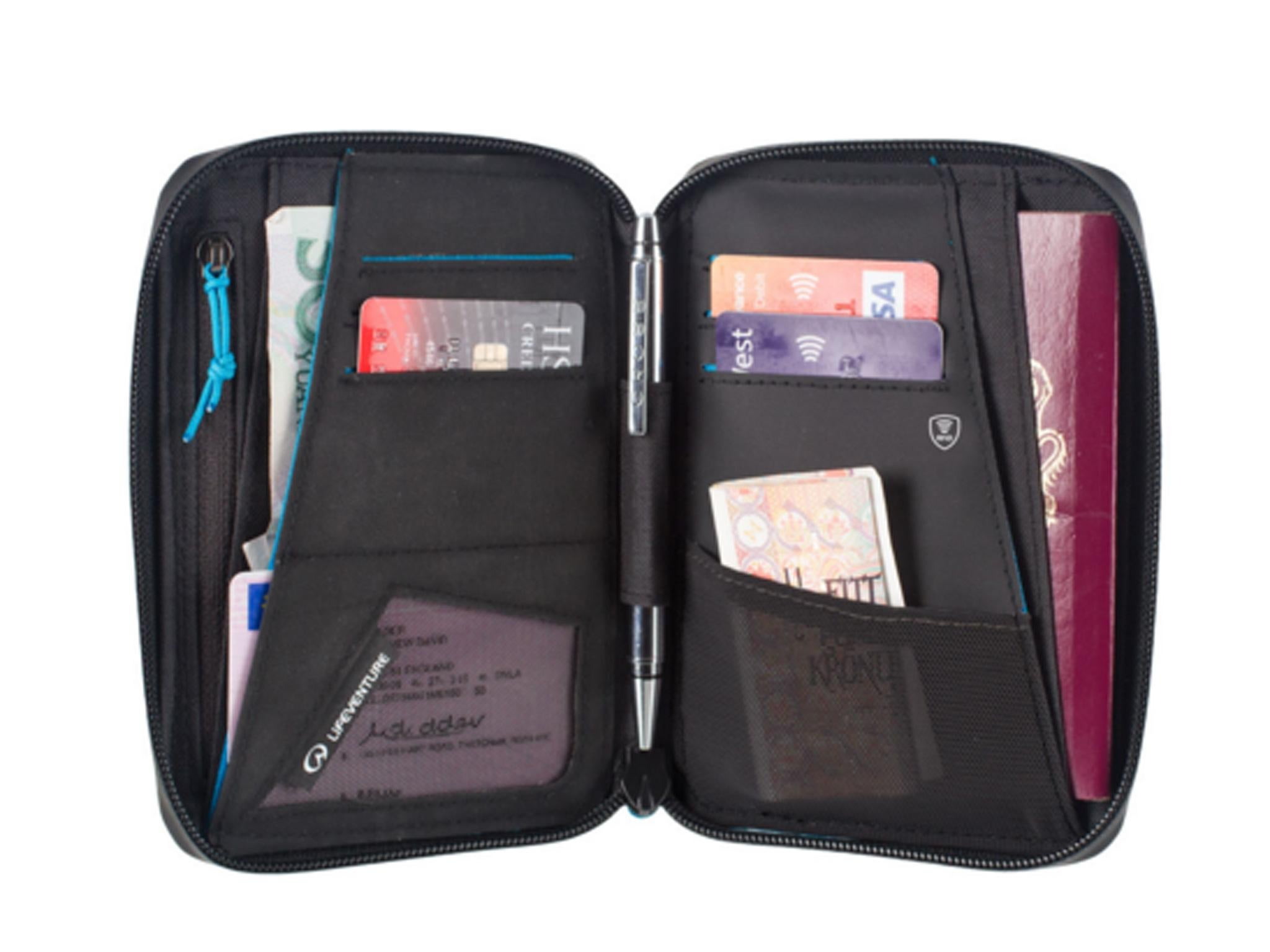 13 best travel wallets the independent lifeventure rfid mini travel document wallet 20 blacks gumiabroncs Image collections